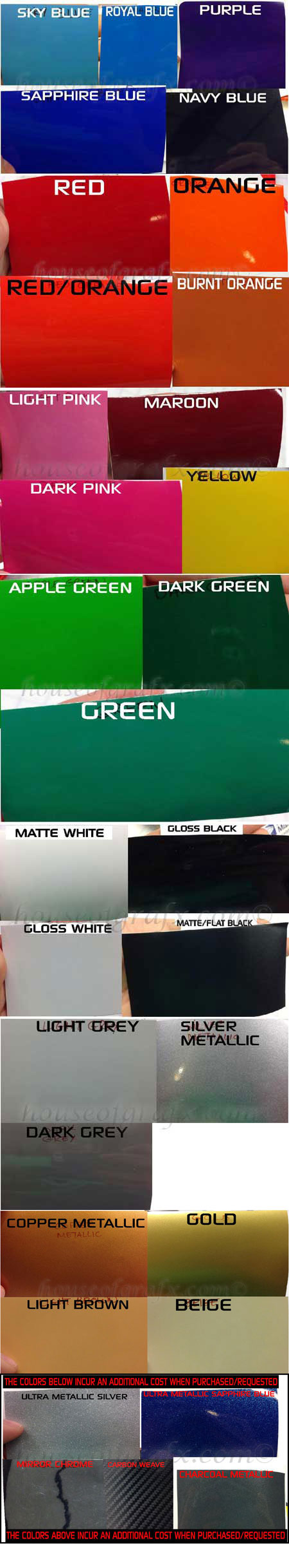 Color chart house of grafx your one stop vinyl graphics shop nvjuhfo Gallery