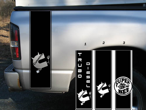 Bedside Bed Decal Decals Made To Fit Cummins Trucks Ram