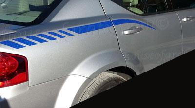 Quarter Panel Decal Decals Stripes Fit 2008 13 Dodge