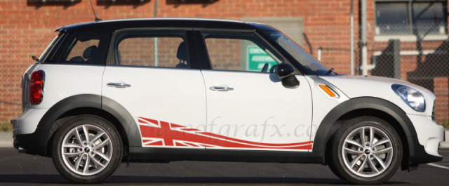 Union Jack Rocker Decals Graphics Fit Mini Cooper
