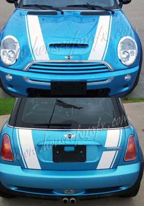 6 Bonnet Boot Decals Stripes Graphics Fit Any Mini Cooper