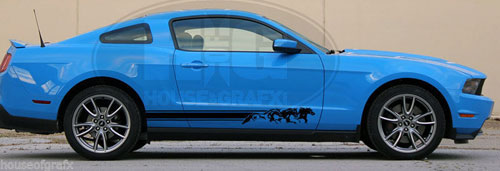 Mustang Decals And Stripes >> Horses Running Decals Graphics Stripes Fit Any Yr Ford Mustang 12