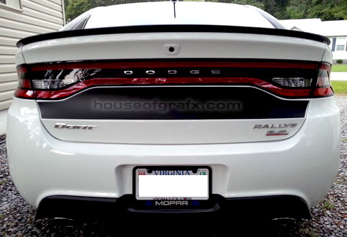 2013 up dodge dart trunk blackout decal graphic stripe