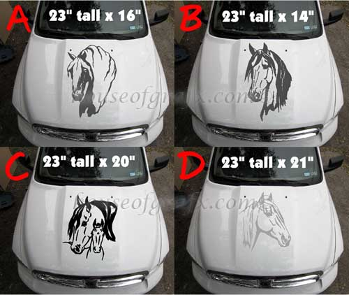 X Tribal Flaming Horse Horses Decals Graphics Trailer - Horse decals for trucks