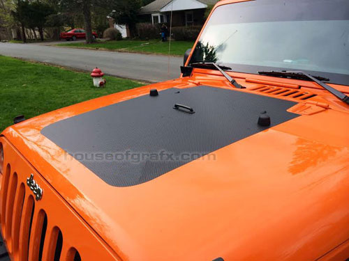 JEEP WRANGLER JK Hood Stripe Blackout Decal Graphic - Jeep hood decalsgraphics for jeep wrangler hood decals and graphics www