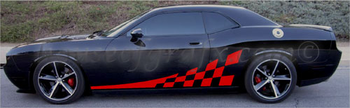 Checkered Decals Stripes Fit Any Dodge Challenger Rt Se