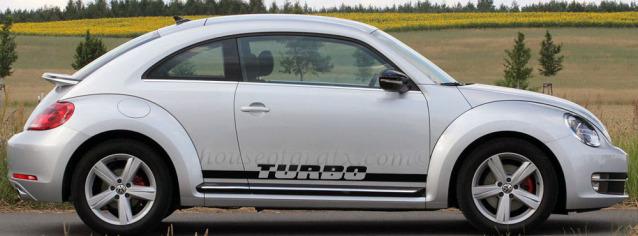 Turbo Rocker Decals Stripes Fit Any Volkswagen Beetle 17