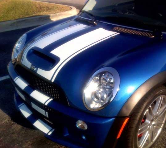 Mini Cooper Solid Hood Bonnet Stripe Stripes Decal Decals
