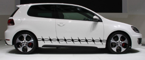 Barbed Barb Wire Car Truck Side Body Graphics Decal Decals - Barb wire custom vinyl decals for trucks