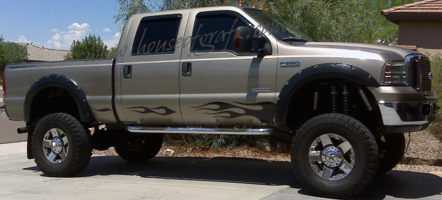 Rocker Flames Flame Decal Decals Fits Any Ford F F F - F250 decals
