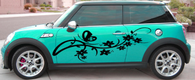 Universal Butterfly Flowers Body Vehicle Graphics Decal Decals - Auto decals and graphics