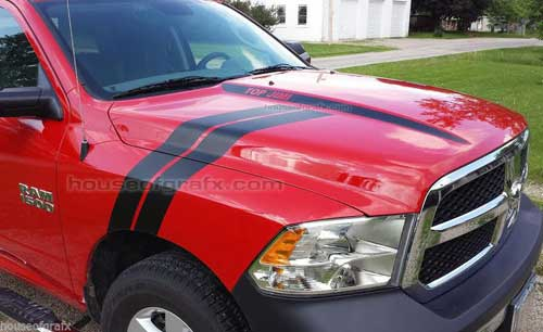 Fender Stripes Amp Hood Spears Decals Fit 2009 2017 Dodge