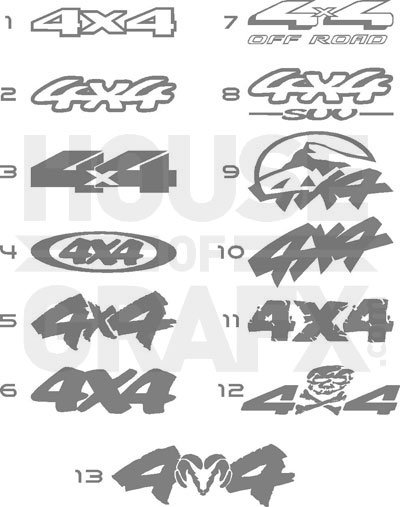 4x4 bedside truck off road decals decal sticker stickers graphic