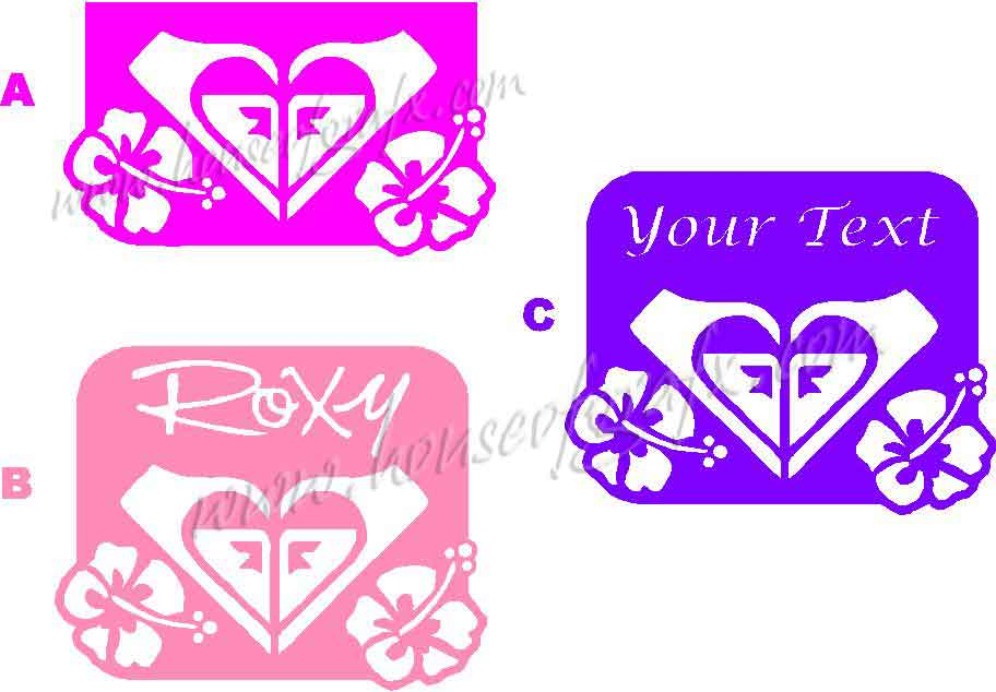 Custom Roxy Hawaiian Hibiscus Flower Decal Decals Sticker - Custom vinyl decals hawaii