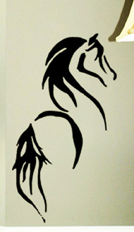Beautiful Horse Vinyl Decal Decals Graphic Truck Trailer Car -  horse graphics for trucks