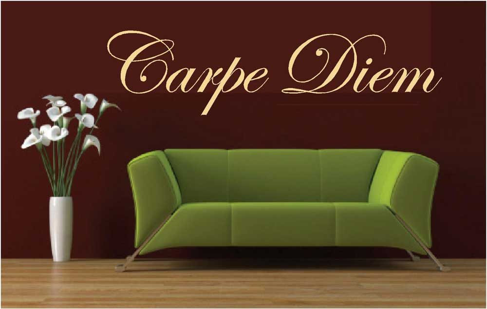 Carpe Diem Latin Seize The Day Wall Art Decal Decals Mural