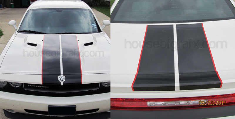 2 Color Racing Rally Stripes Stripe Kit Fits Dodge