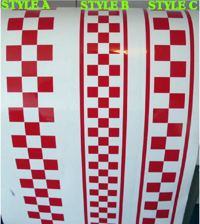 Universal checkered rally racing stripe stripes decals graphics