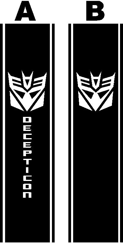 Decepticon Truck Bedside Bed Side Stripe Decal Decals 952