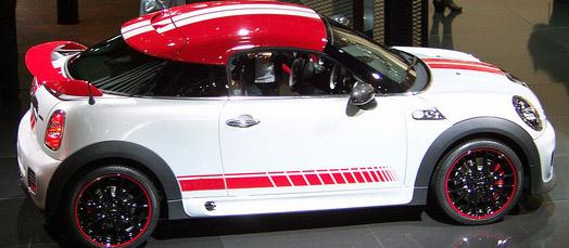 Faded Rocker Stripes Graphics Fits Mini Cooper Coupe