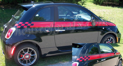 Checkered Side Body Graphics Decals Decal Fit 2011 2012