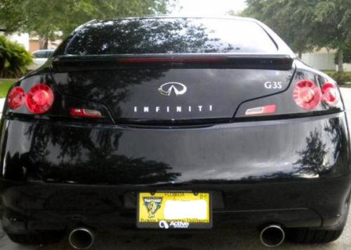 06 07 Infiniti G35 Coupe Gtr Style Headlight Overlays
