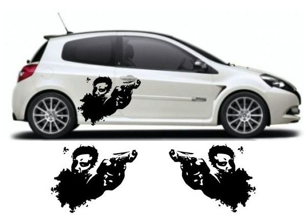 Gun Gangster Anime Side Body Decal Decals Graphics Sticker - Anime car body sticker
