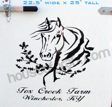 Personalized Horse Head With Holly Vinyl Decal Truck Trailer - Decals for trucks customizedhorse decals horse stickersgraphics for horse trailers