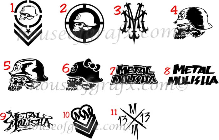 Skull Metal Mulisha Circle Vinyl Decal Decals Graphics Sticker