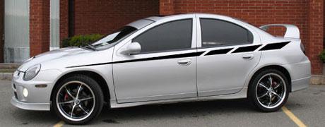 Dodge Neon Srt 4 Sxt R T Strobe Side Body Stripe Decal