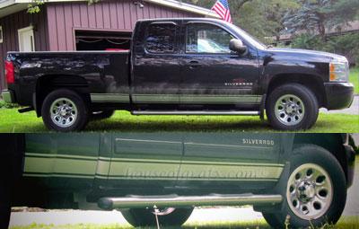 Chevy Silverado Rocker Stripe Stripes Graphics Decals - Chevy decals for trucks