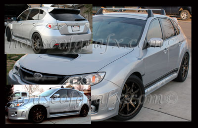Subaru Impreza Wrx Sti Rocker Panel Stripe Stripes Decals
