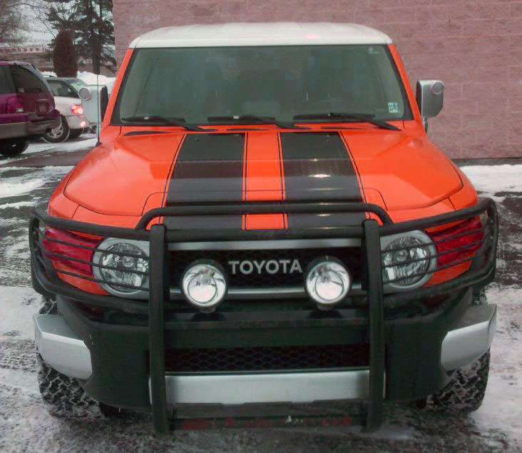 Dual 11 Hood Stripe Stripes Decals Fit Any Toyota Fj