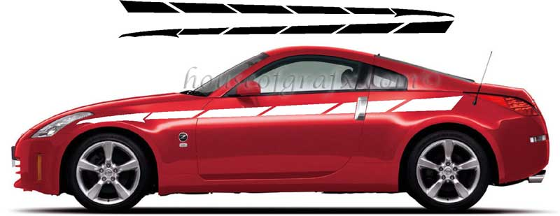 Car body strobe graphics decals universal fit jdm honda srt 4