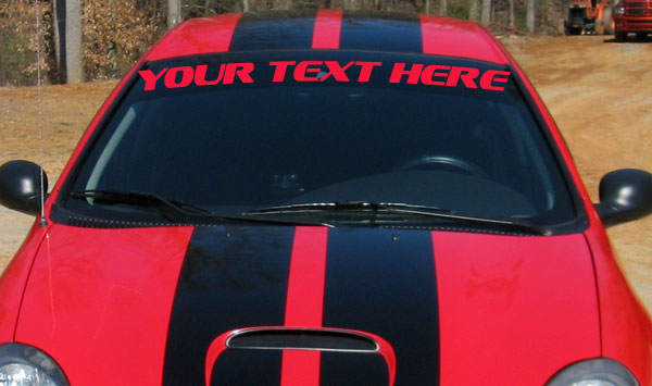 Personalized dodge srt 4 windshield banner decal decals