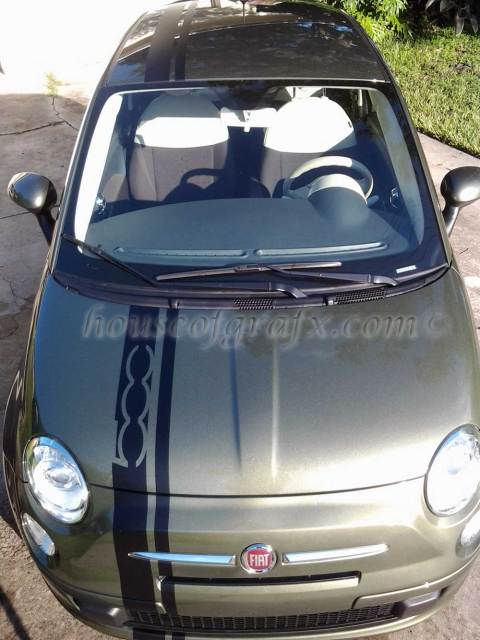 Checkered Roof Squares Decals Fits Any 11 12 Fiat 500