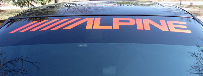 Alpine windshield banner decal decals sticker graphic