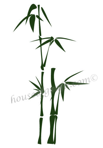 Bamboo Wall Art Decor Mural Decals Decal Graphic Style 1