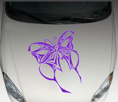 Tribal Butterfly Car Truck HOOD Decal Decals Graphic Sticker - Butterfly vinyl decals