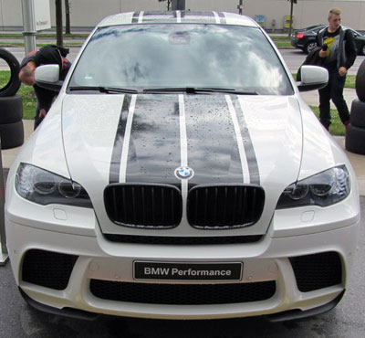 Twin Performance Style Stripes Decals Fit All Series BMW - Bmw racing stripes decals