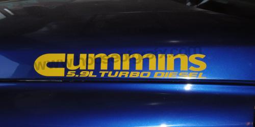 Cummins Turbo Diesel Hood Decals Stickers Fit Dodge Ram Truck - Truck decals and stickers