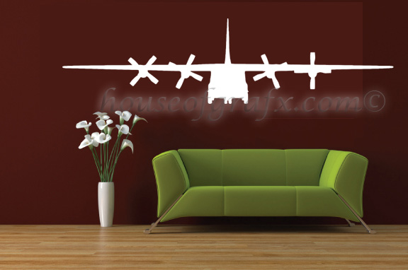 Military army c 130 airplane wall art decor vinyl decal for Airplane wall decoration