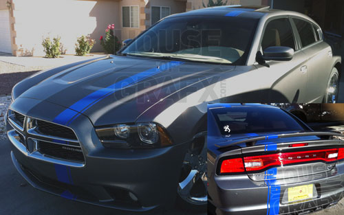 5 Offset Stripe Stripes Decals Graphics Fit Any Dodge