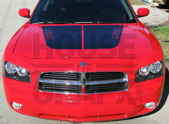 Split Hood Graphics Decal Decals Fit Any 2006 Dodge