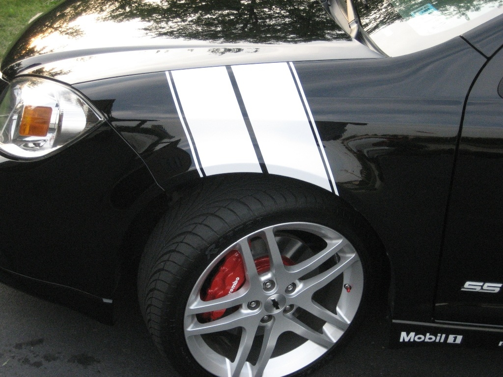 Fender hash stripes stripe decal decals fits any cobalt ls ss