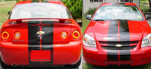 8 racing rally stripe decal decals fits chevy cobalt lt ls ss