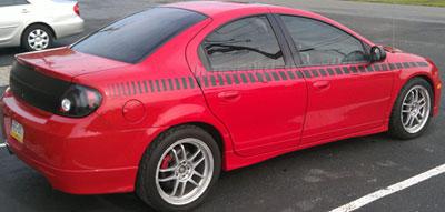 Strobe Rocker Stripe Decal Decals Fit Dodge Neon Srt 4 Sxt