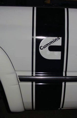 Bedside Stripe Bed Side Decal Decals Fit Cummins Diesel