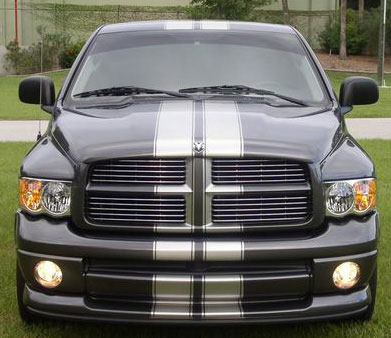 Dual Dodge Ram Truck Racing Rally Stripe Stripes Graphics