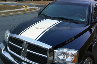 18 Wide Hood Stripe Graphic Decal Decals Fits Dodge Dakota